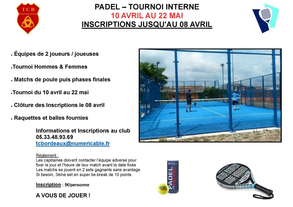 Tournoi Interne de Padel